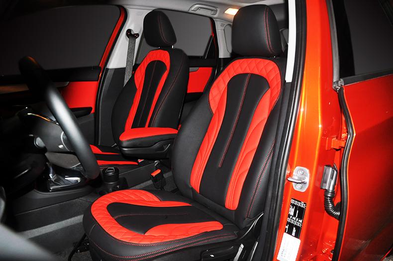宝马2系旅行版个性改装黑红色真皮内饰 - 改装案例